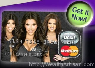 The Kim Kardashian Debit Card