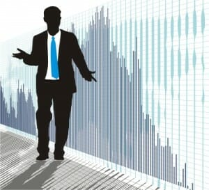 Man Guy Business Graph Bar Stock Silhouette