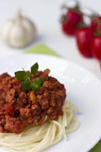 Save money with meal planning. Spaghetti dinner.
