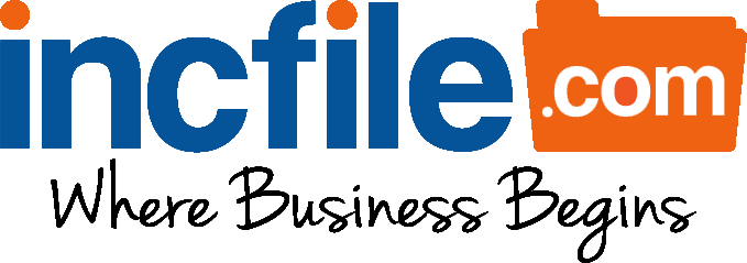 IncFile.com Logo. Text reads: IncFile.com - Where Business Begins.