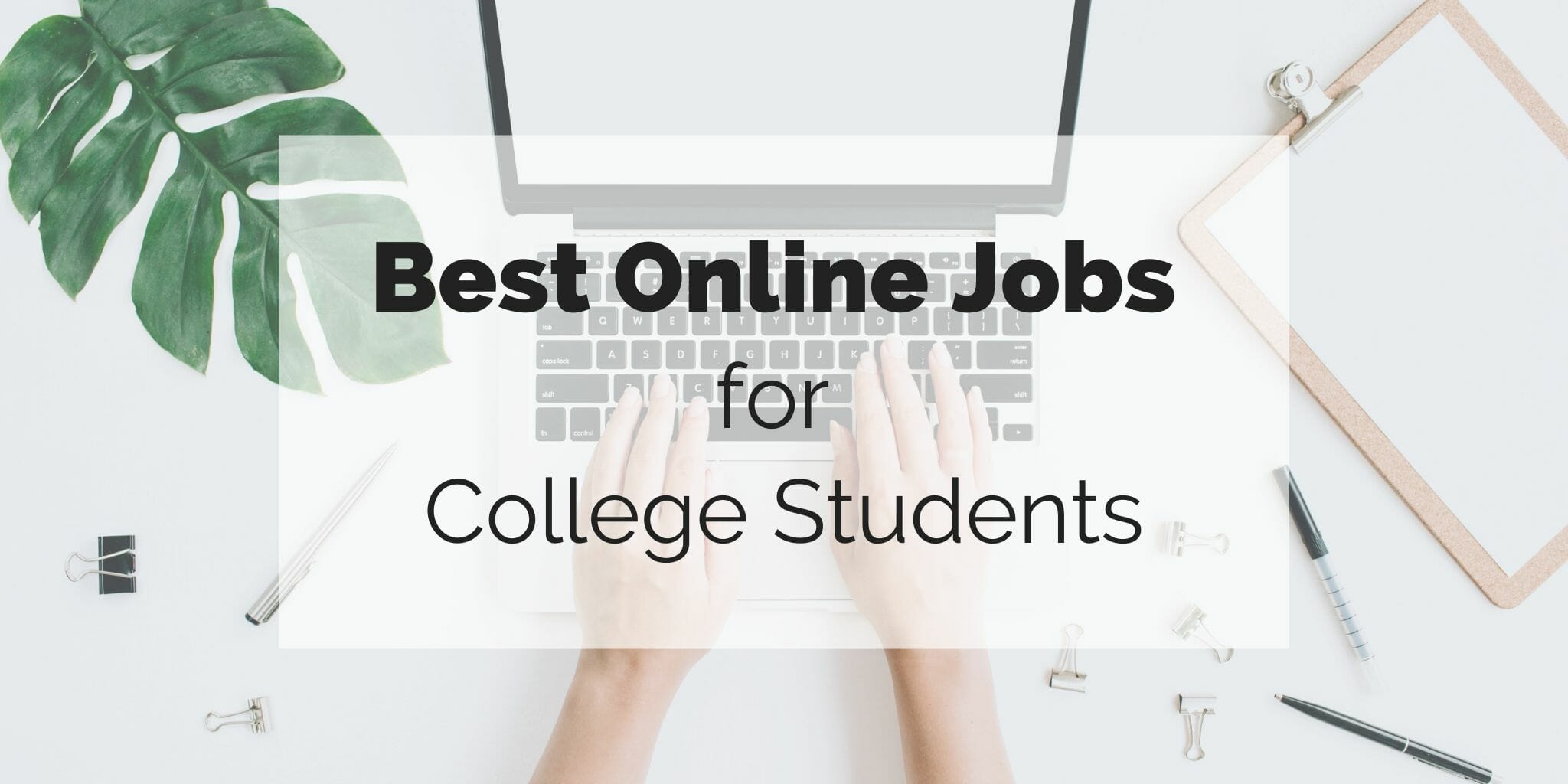 featured image for best online jobs for college students