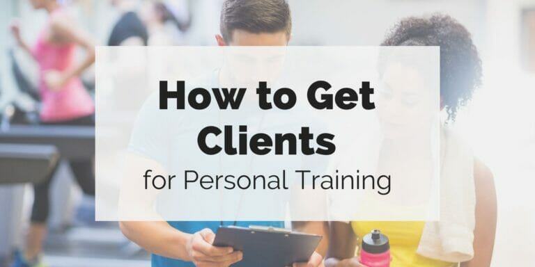How to Get Clients for Personal Training featured image: personal trainer showing stats to client