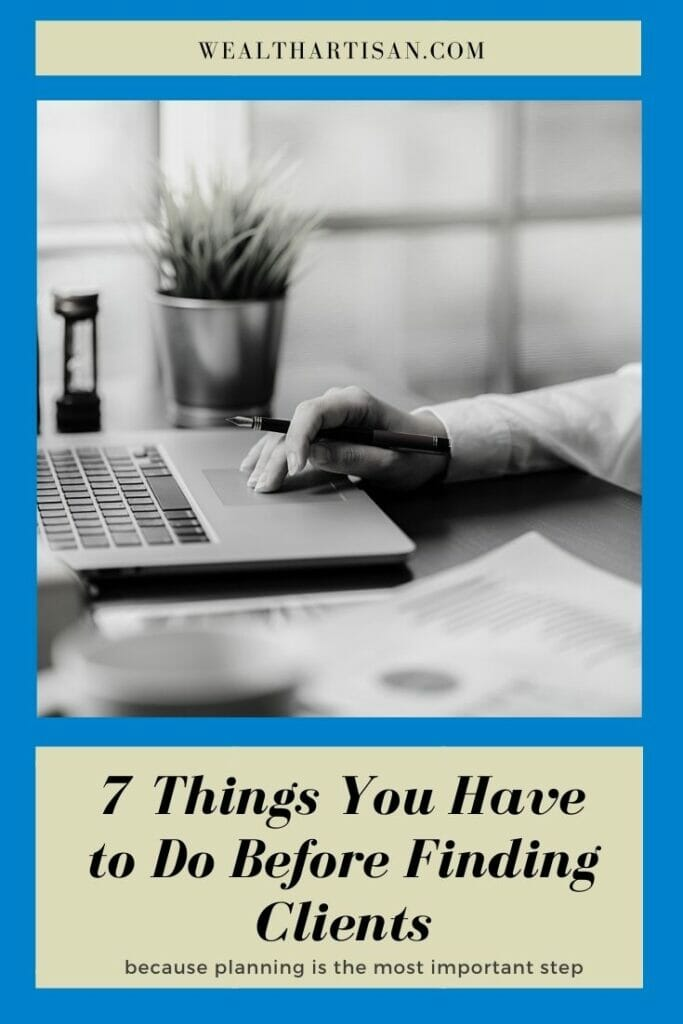 7 things you have to do before finding bookkeeping clients